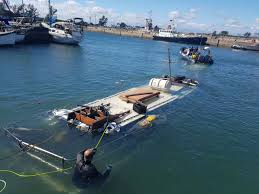 port authority prepares to salvage sunken boat zululand observer