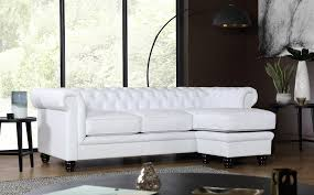 Chesterfield Sofa White Hton Chesterfield White Leather Corner Sofa L Shape Only
