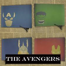 online buy wholesale ironman wall stickers from china size xcm vintage cartoon superhero ironman the avengers poster retro kraft paper bar cafe home