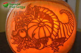 thanksgiving pumpkin carving with cornucopia design nita s fruit