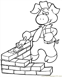 pigs printable coloring
