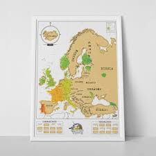 map erope scratch map europe edition