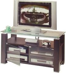 Audio Cabinets With Glass Doors Elt 905 Wide Tv Stand Audio Rack 47 Inch Two Adjustable Shelves
