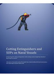 cutting extinguishers and sop u0027s onboard naval vessels