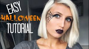 easy face makeup for halloween easy last minute halloween makeup tutorial spider web youtube