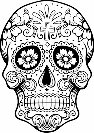 free sugar skull coloring page printable day of the dead for of
