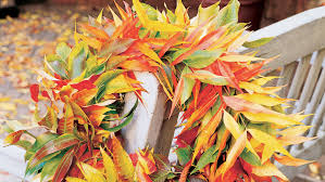 fall decorations ideas creative decorations with fall leaves sunset