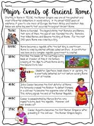rome timeline reading comprehension worksheet roman empire