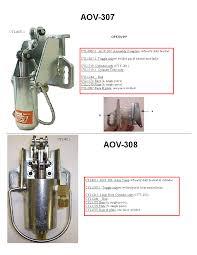 aov aov 307 u0026 aov 308 clamp frame cylinders