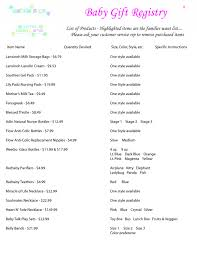 baby gift registries baby shower list ideas jagl info