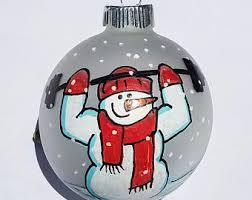 delivery driver ornament personalized ornament snowman