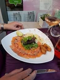 la cuisine de domi carpaccio der jakobsmuschel und lachs picture of la table de