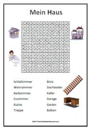 german rooms in the house wordsearch french teaching resources