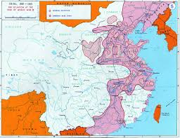 Chengdu China Map by 1945 Communist Base Areas Within Japanese Occupied Territory
