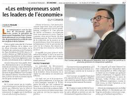 Resume Francais Guy Cormier Un Résumé De Son Discours Chambre De Commerce Du
