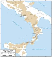Map Of Ancient Italy by Map Of Southern Italy 11th Century