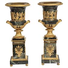 urns for sale pair of antique neoclassical verde antico marble and ormolu
