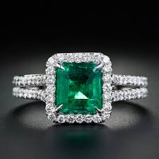 emerald engagement rings images Emerald diamond ring in 14k white gold from gemone diamonds online jpg