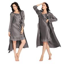 robe de chambre dentelle ensemble robe de chambre et fond de robe en soie dentelle