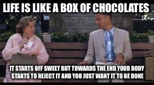 Life Is Like A Box Of Chocolates Meme - forrest gump box of chocolates memes imgflip