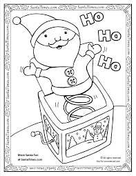 santa jack in the box pintable coloring page