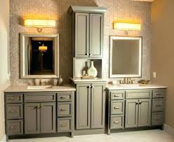 double sink vanity with middle tower double vanity with tower bathroom bathroom double vanity with center