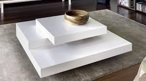 table basse laque blanc design tables basses en verre de salon