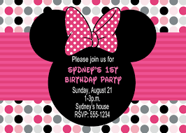 template sophisticated blank minnie mouse 1st birthday