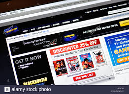 blockbuster website online movie and video game rental stock