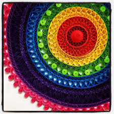 wow so colourful love the design quilling pinterest