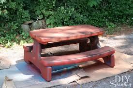 plastic picnic table makeoverdiy show off u2013 diy decorating and