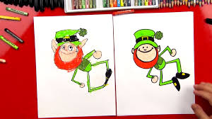 how to draw a leprechaun art for kids hub