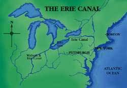 map of the erie canal angliacus canals of the