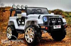 jeep cars white 12v 4x4 jeep power wheel truck 2 seater with rubber tires