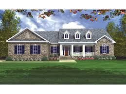 features country ranch homes porch great room house plans 9655