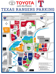 Rs07 Map Texas Rangers Parking Map Tablesportsdirect