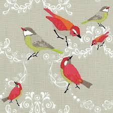 Bird Print Curtain Fabric Curtain Fabric Amazon Co Uk
