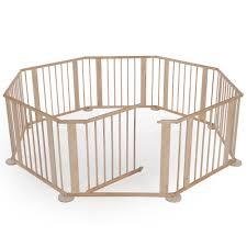 Esszimmerst Le B Ware Baby Laufgitter Klappbar Laufstall Holz Absperrgitter 7 2 M Natur