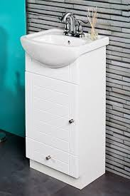 Bathroom Cabinet With Sink - small bathroom vanity cabinet and sink white pe1612w new petite