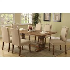 7 pc dining room set coaster parkins 7 dining table and chair set in coffee