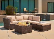 corvus martinka outdoor 9 piece grey wicker sectional furniture