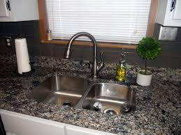 black faucet with stainless steel sink kitchen lovely kitchen decoration with black granite counter top