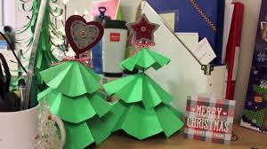 diy christmas decorations how to make paper christmas trees and