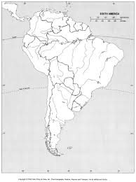 Map Of The World Blank by Online Maps Blank Map Of South America
