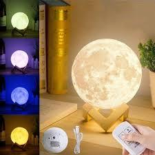 Light Table Desk 3cm 3d Moon Lamp Usb Led Remote Color Changing Night Light Table Desk