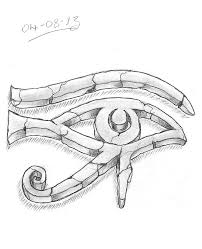 grey ink 3d eye of horus design