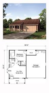 tiny house plan 65934 total living area 569 sq ft 1 bedroom