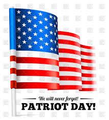 Waving American Flag Patriot Day September 11 Waving Usa Flag Royalty Free Vector Clip