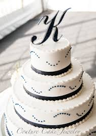 letter cake topper wedding k monogram cake topper done in indigo