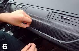 Vinyl Car Interior How To Apply Carbon Fiber Vinyl Sheet For Car Interior Trim